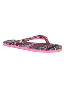 Bright Fabric Flip Flops