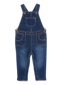 Boys Navy Dungarees (0-24 months)