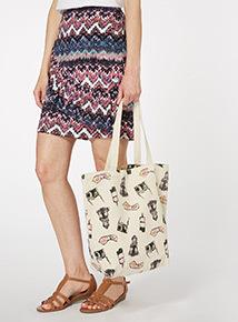 Multicoloured Canvas Holiday Bag