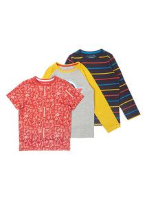 Multicoloured Three Pack Tees (3-14 years)