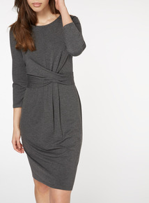 Front Knot Jersey Dress
