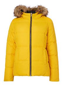Yellow Padded Reversible Coat