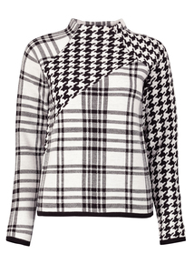 Dogtooth And Check Mix Jumper