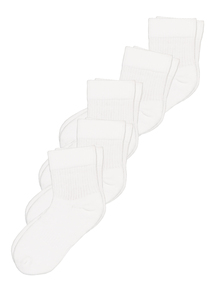 White Sports Trainer Sock 5 Pack