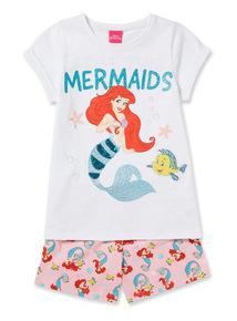 White The Little Mermaid Pyjama Set (2-10 years)