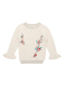 Cream Embroidered Jumper (9 months-6 years)