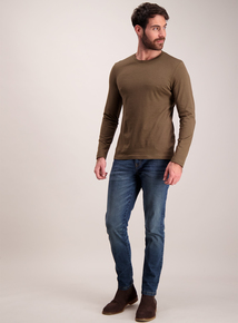 Khaki Long Sleeve T-Shirt