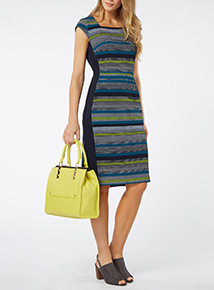 Multicoloured Illusion Dress