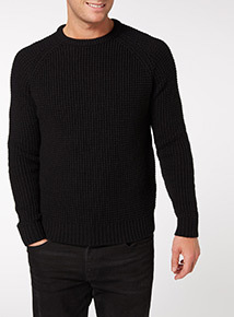 Black Pineapple Stitch Jumper