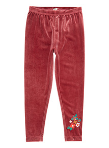 Red Velour Legging (9 months-6 years)