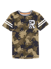 Boys Khaki Dinosaur T-Shirt (9 months - 6 years)
