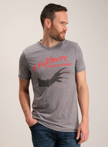 Grey 'Nightmare On Elm Street' T-Shirt