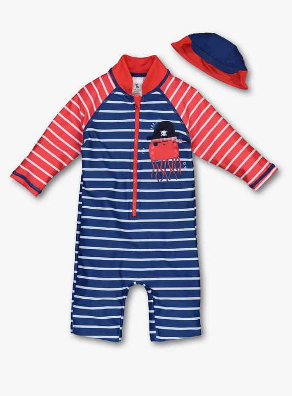 882d3e4a83e47 Holiday Shop Multicoloured Pirate Sunsafe Swim Set (0-24 months) | Tu  clothing