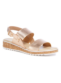 Rose Gold Two Band Sandals