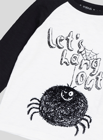 Halloween Black & White 'Let's Hang Out' Spider T-Shirt (9 months - 6 years)