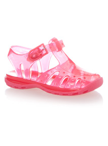 Girls Pink Jelly Shoes