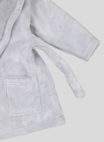 Grey Penguin Fleece Dressing Gown (0- 12 months)