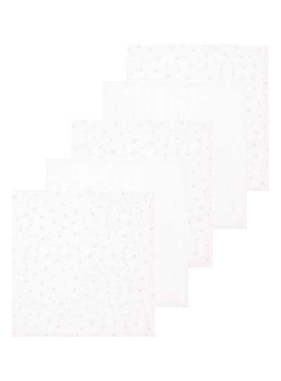 White Muslin Squares 5 Pack
