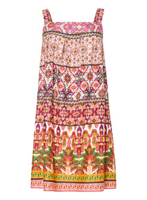 Pattern Stripe Tunic Dress