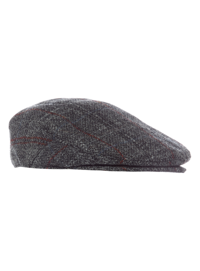 d2bf8ce94e1 Menswear Grey Checked Harris Tweed Flat Cap