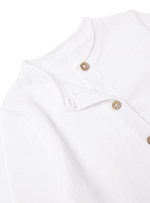 White Shrug Cardigan (0-24 months)