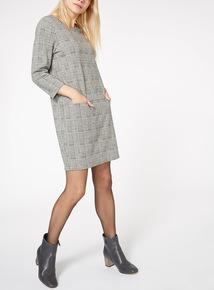 Check Print Pocket Dress