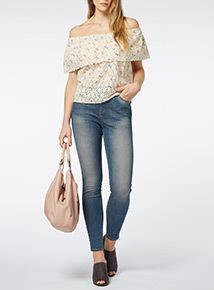 Mid Denim Tinted Skinny Jeans