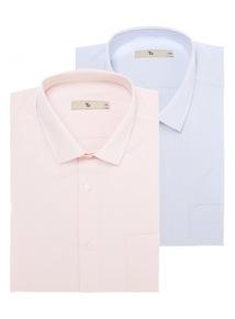 Pink Cotton Rich Shirts 2 Pack
