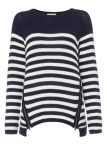 Multicoloured Nautical Stripe Jumper