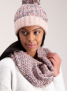 Multicoloured Knitted Cable Snood