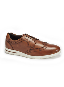 Sole Comfort Tan Leather Casual Brogue Shoes