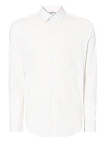 Slim Fit Spot Shirt With Stretch