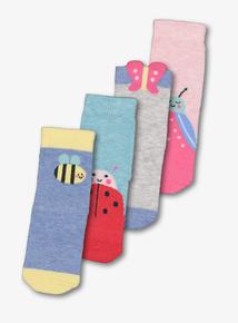 Multicoloured Socks 4 Pack (0-2 years)