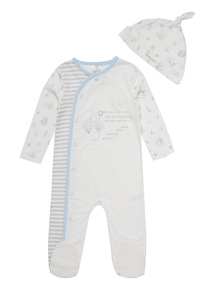 White Peter Rabbit Sleepsuit And Hat (0-24 months)