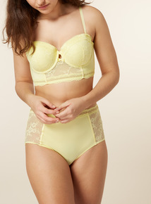 Yellow Longline Lace Balcony Bra
