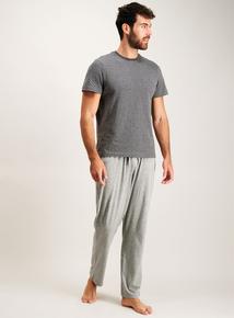 Grey Stripe Jersey Pyjamas