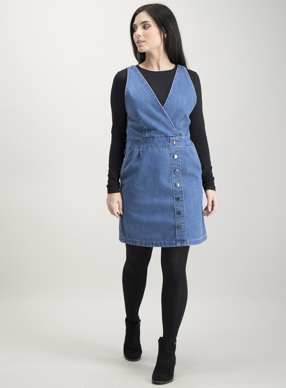 cd8add70eb5b Womens PETITE Blue Denim Pinafore Dress | Tu clothing