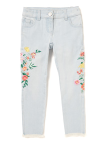 Denim Floral Embroidered Jeans (3-14 years)