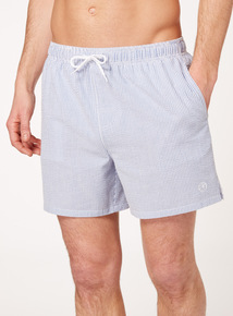 Blue White Stripe Swim Shorts