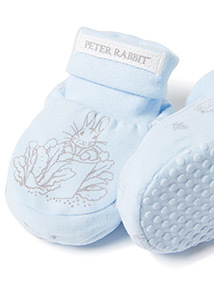 Blue Peter Rabbit Booties (0-24 months)