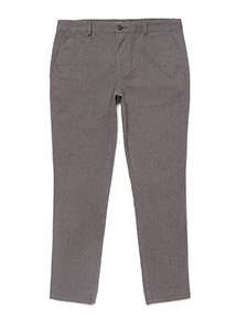 Grey Slim Fit Chinos With Stretch