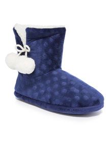 Velour Slipper Boot