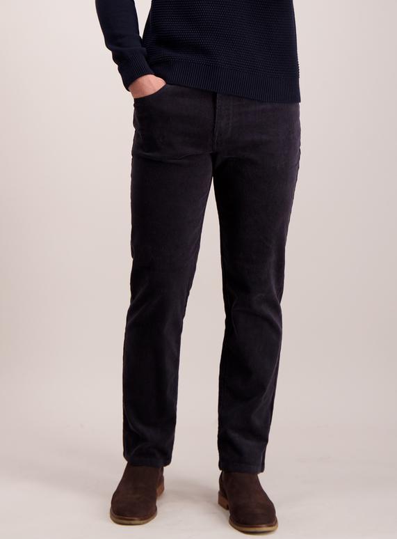 dc2a067465f Menswear Dark Charcoal Grey Straight Leg Cords With Stretch