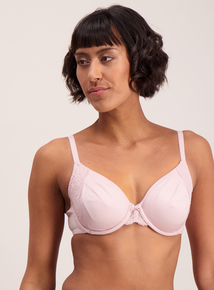 Contemporary Comfort Pink Soft Touch Full Cup Bra Underwired