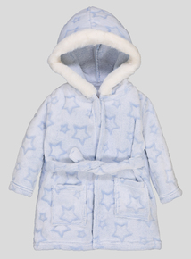 Blue Star Embossed Dressing Gown (0 - 24 Months)