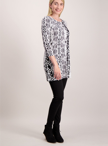 Black Snakeprint Tunic