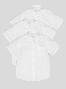 3 Pack White Slim Fit Blouses (3-12 years)