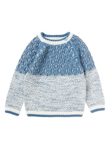 Blue Textured Jumper (0-24 months)