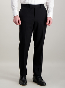 Black Tailored Fit Tuxedo Dinner Suit Trousers