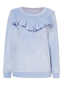 Ruffle Front Pyjama Top